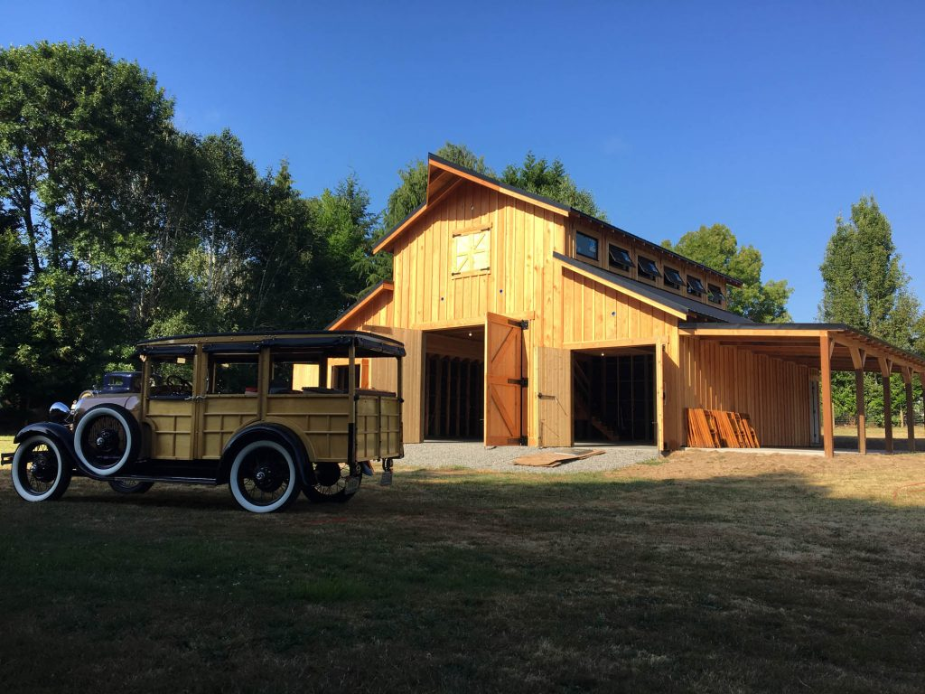 Salmon Creek Barn with 1x12 Doug Fir Siding